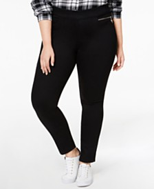 Tommy Hilfiger Plus Size Gramercy Pull-On Jeans, Created for Macy's