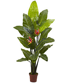 "Nearly Natural 58"" Bird of Paradise Real Touch Artificial Plant"