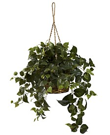 Nearly Natural Philo Artificial Plant Hanging Basket