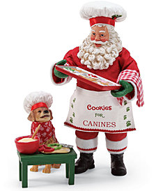 Department 56 Possible Dreams Cookies for Canines Santa Figurines