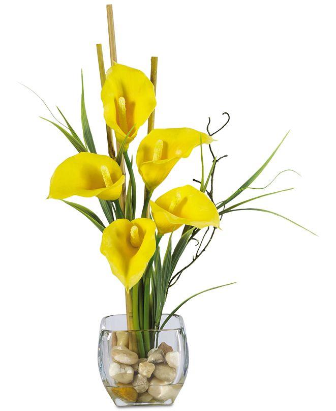 Nearly Natural Calla Lily Liquid Illusion Artificial Flower Arrangement
