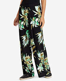 Lauren Ralph Lauren Printed Wide-Leg Pants