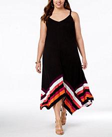 I.N.C. Plus Size Handkerchief-Hem Maxi Dress, Created for Macy's
