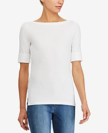 Stretch Boatneck Top