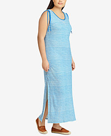 Lauren Ralph Lauren Plus Size Striped Maxidress