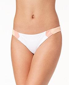 Hula Honey Juniors' Colorblocked Bikini Bottoms, Created for Macy's
