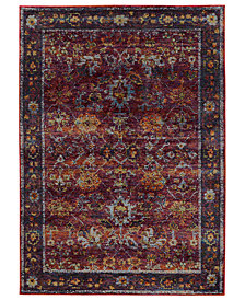 "Macy's Fine Rug Gallery Journey Prima Red 10' x 13' 2"" Area Rug"