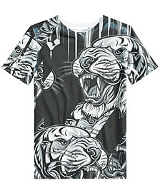Sean John Big Boys Tiger Graphic-Print T-Shirt