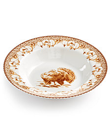 CLOSEOUT! Martha Stewart Collection Sepia Turkey Dinner Bowl