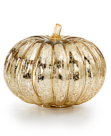 Martha Stewart Collection LED Short Glass Pumpkin