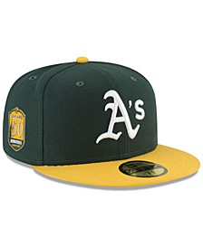Oakland Athletics Authentic Collection 50th Anniversary 59FIFTY Fitted Cap
