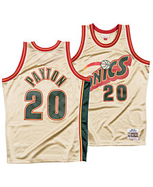 Mitchell & Ness Men's Gary Payton Seattle SuperSonics Gold Collection Swingman Jersey