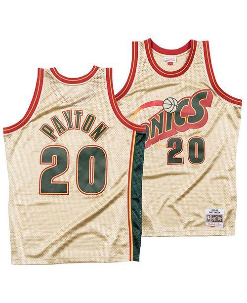 ... Mitchell   Ness Men s Gary Payton Seattle SuperSonics Gold Collection  Swingman Jersey ... ccd0f585b