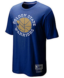 Mitchell & Ness Men's Golden State Warriors Hardwood Classics Logo Tri-Blend T-Shirt