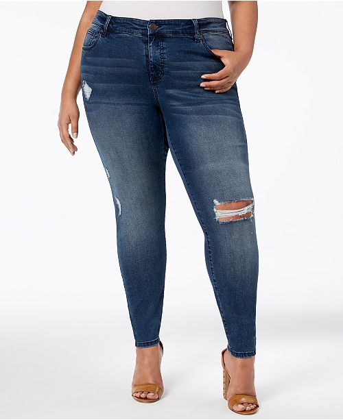 850b5c2a405 Celebrity Pink Trendy Plus Size Ripped Skinny Jeans & Reviews ...