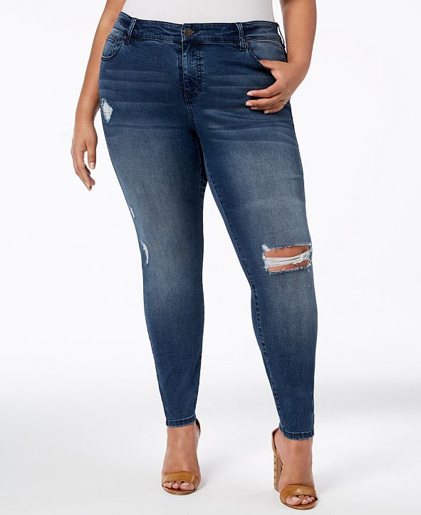 Celebrity Pink Plus Size  Ripped Skinny Jeans