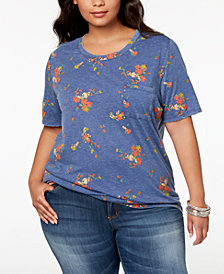 Hybrid Plus Size Printed T-Shirt
