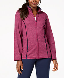 Karen Scott Zip-Front Space-Dye Jacket, Created for Macy's