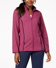 Karen Scott French Terry  Stand-Collar Zip-Front Jacket, Created for Macy's