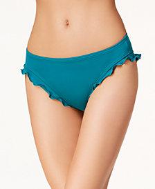SUNDAZED Ruffled Hipster Bikini Bottoms, Created for Macy's