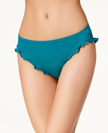SUNDAZED Ruffled Hipster Bikini Bottoms, Created for Macy's