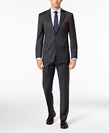 Men's Slim-Fit TH Flex Stretch Gray/White Stripe Suit Separates
