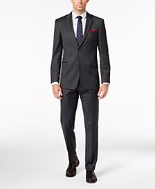 Men's Slim-Fit TH Flex Stretch Gray/White Stripe Suit Separates