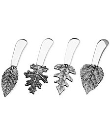 Godinger Silver-Tone Leaf Spreaders, Set of 4