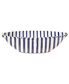 Vietri Net & Stripe Stripe Pasta Bowl