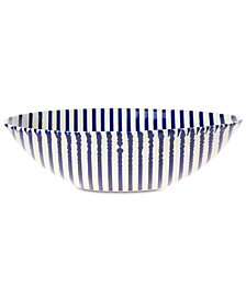 VIETRI Net & Stripe Stripe Medium Serving Bowl
