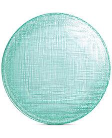 VIETRI Glitter Glass Aqua Canapé Plate