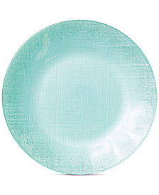 VIETRI Glitter Glass Aqua Service Plate/Charger