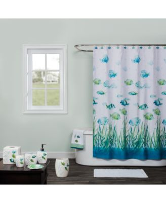 Atlantis 12-Pc. Hand-Painted Shower Curtain Hook Set