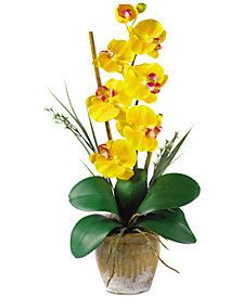 Nearly Natural Phalaenopsis Orchid Artificial Flower Arrangement