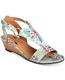 Aerosoles Creme Brulee Wedge Sandals Womens Shoes