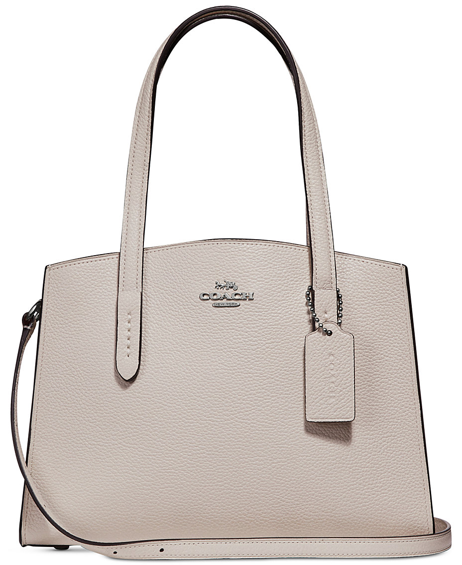 ba105cabe4b COACH Charlie 28 Carryall in Pebble Leather   Reviews - Handbags    Accessories - Macy s