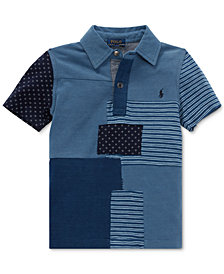 Polo Ralph Lauren Little Boys Patchwork Cotton Polo