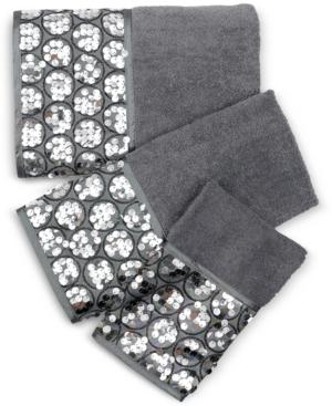 Popular Bath Sinatra Cotton 3-Pc. Sequin Towel Set Bedding