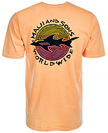 Maui and Sons Men's Sharkys World Graphic-Print T-Shirt