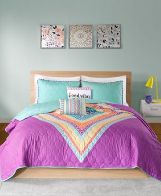 Lani Reversible 5-Pc. Full/Queen Quilted Coverlet Set
