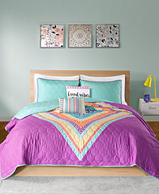 Intelligent Design Lani Reversible 5-Pc. Full/Queen Quilted Coverlet Set