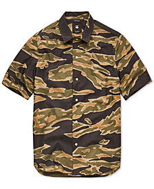 G-Star RAW Men's Bristum Utility Camo Poplin Shirt