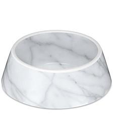 "Carrara Marble Pet Bowl, Medium, 7.8"" x 2.5"",  3 Cups, Melamine, Set of 2"