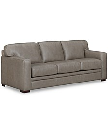 """Avenell 87"""" Leather Sofa, Created for Macy's"""