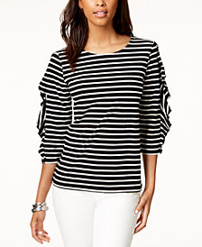 Tommy Hilfiger Frill-Sleeve Top, Created for Macy's