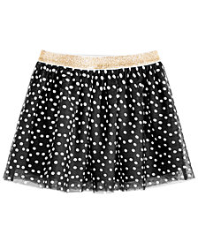 Epic Threads Little Girls Dot-Print Skirt, Created for Macy's