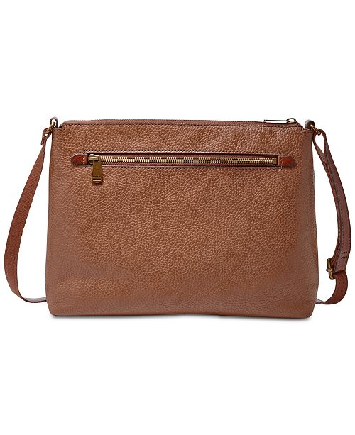 67f104ba20ac0 Fossil Kinley Glazed Pebble Leather Crossbody   Reviews - Handbags ...
