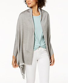 Calvin Klein Textured-Stripe Wrap