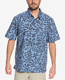 Quiksilver Men's Waterman Tiki Forest Printed Shirt