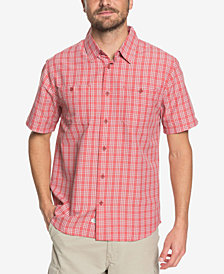 Quiksilver Men's Waterman Wake Plaid Performance Shirt